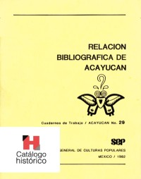 Relación bibliográfica de Acayucan