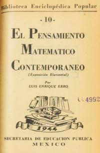 El pensamiento matemático contemporáneo